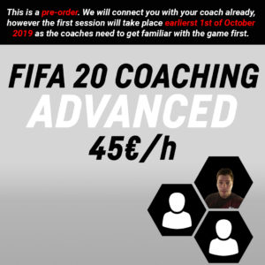 FIFA 20 Coaching – ADVANCED